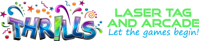 Thrills Laser Tag and Arcade Sticky Logo Retina