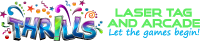 Thrills Laser Tag and Arcade Mobile Logo
